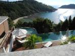 Lord Jim Retreat Koh Phangan: Sea view - Haad Thong Lang Bay and Koh Ma island