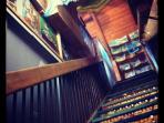 stairs to Art studio above yoga/dance studio