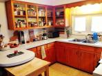 Bright kitchen.