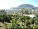 View of the Farmhouse and Alora town from the back of the property