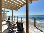 Relax, meditate, finish that novel on a 60' beachfront deck