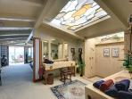 Master Bedroom Bath Suite with double showers, sinks and a stained glass ceiling