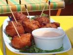 Make sure you try Conch Fritters