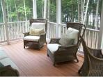 Screened in porch off of deck