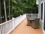 Large deck area with grill
