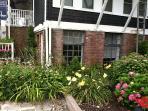 Beautiful Gardens are you walk down the cobblestone path