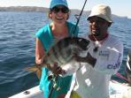 Fishing off the coast