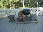 Complete with Webber Charcoal Grill on the Deck