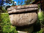 Antique stone water basin