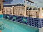 Beautifully tiled pool