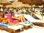 Kool Beach right next to Mamitas with pool and great service.