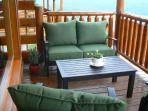Patio Seating with cushioned seats