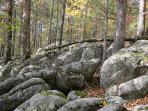 'The Rocks' on-property trail to rock formations