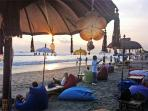 Beachside bars at Seminyak beach