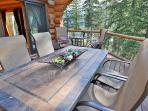 Deck overlooks pear orchards and canyon
