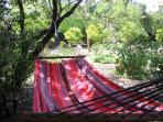 Relax in the hammock