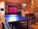 ping pong and air hockey tables in loft