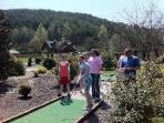 free 9 hole miniature golf. lighted for evening play