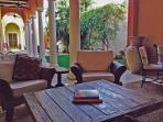 Central outdoor living room/patio