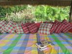 the inside of the bale, a nice day bed