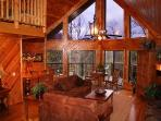 SPECTACULAR VIEW LUXURY SMOKY MT. CHALET 5 BR 3 BT