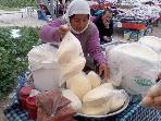 Local market selling homemade butter