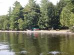 lake access thru our association beach front with swim area, picnic tables and boat rack