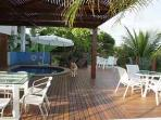 The varanda and the swimmingpool
