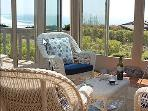 Sun room with spectacular white water views