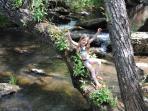 Enjoying the creek.