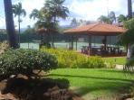 BQQ Area & Tennis Court & Gardens