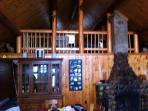 Master bedroom in loft