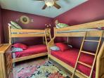 3rd bedroom- two fulls on bottom 2 twins on top bunk bed style