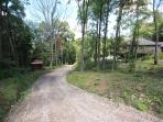 scenic long driveway to very private acreage