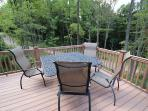 2nd story deck overlooking private acreage