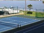 Enjoy a game of tennis at the onsite tennis courts.