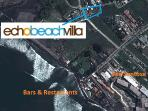 Great location, few steps from the surf, beach, bars & restaurants in Echo Beach