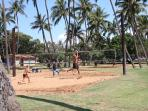 Play a game of volleyball at Kalama Beach Park