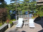 Sun Deck and Large Outdoor Hot Tub overlooking Lake