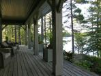 Covered Porch with Lake View