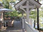 Lake View of Outdoor Dining Area