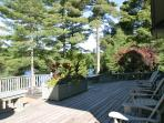 Deck View of Lake-Muskoka Chairs and Hot Tub...Mmmmn, mmmmn...Good!!..
