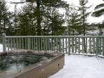 Year-Round Hot Tub with View of Frozen Lake