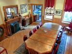 the dining room from the stairs