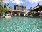 View of Villa, swimming pool & cocktail bar