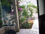 Small garden in front of apartment