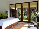 Garden Master w/ river view & private walled garden w/ outdoor sunken tub & rain shower.