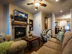 Flat Screen TV and Gas Fireplace in Great Room
