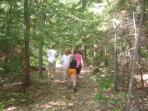 Hiking on Rose Island