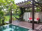 Tranquil and relaxing pool deck gazebo